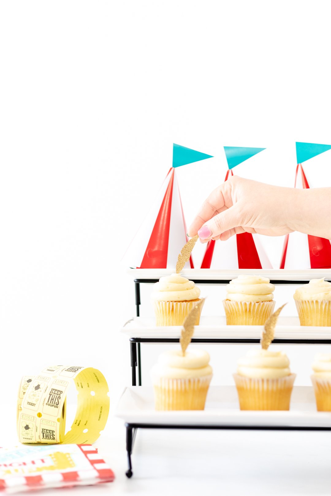 making dumbo inspired cupcakes