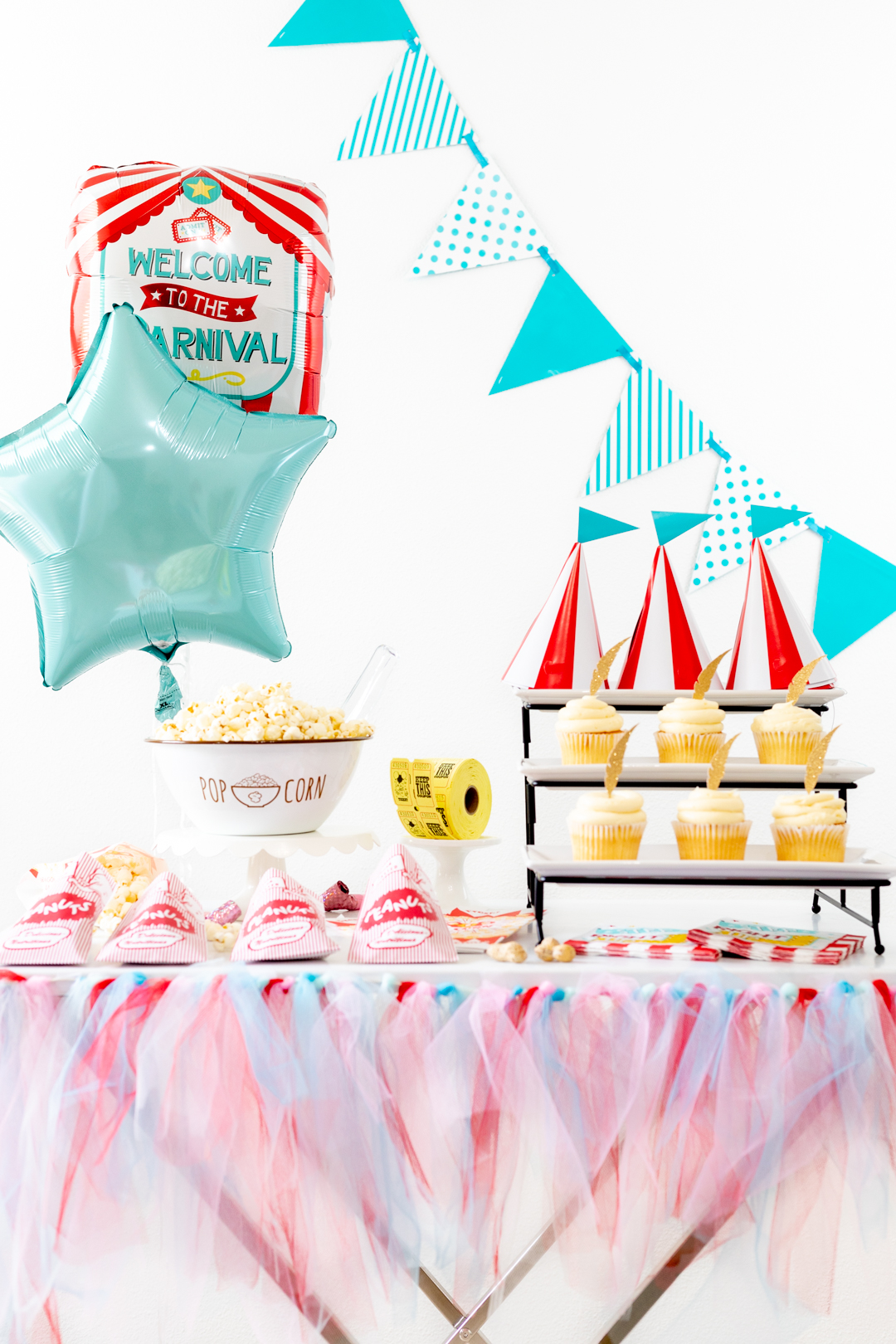Carnival party ideas to celebrate the release of the Dumbo movie.