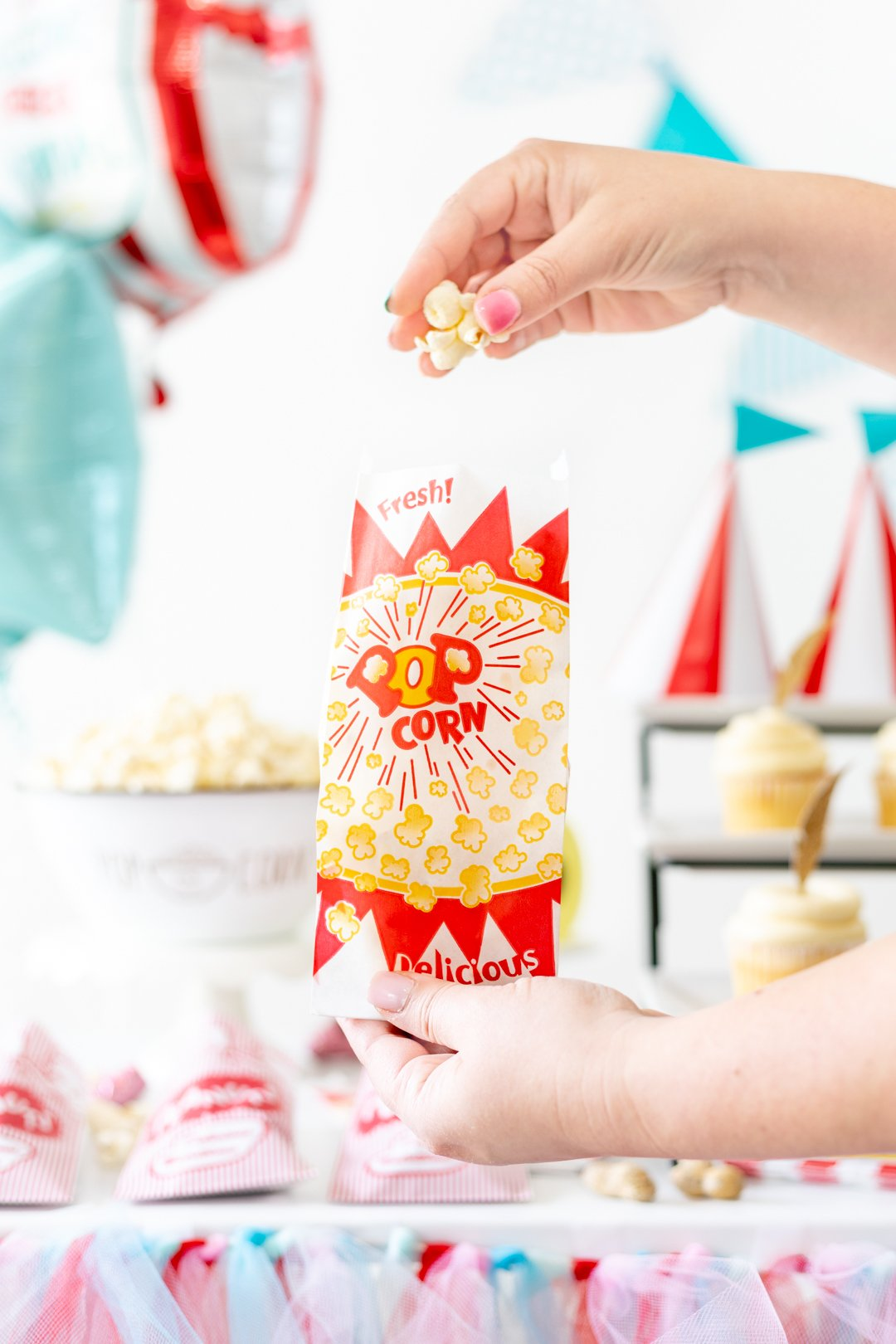 carnival popcorn party food