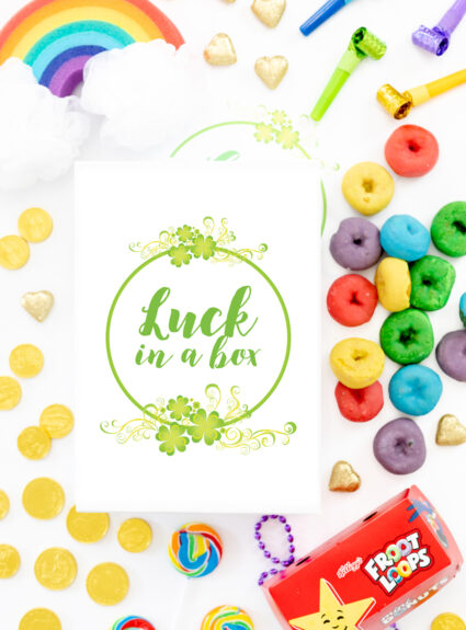 luck in a box diy gift idea for st. patrick's day