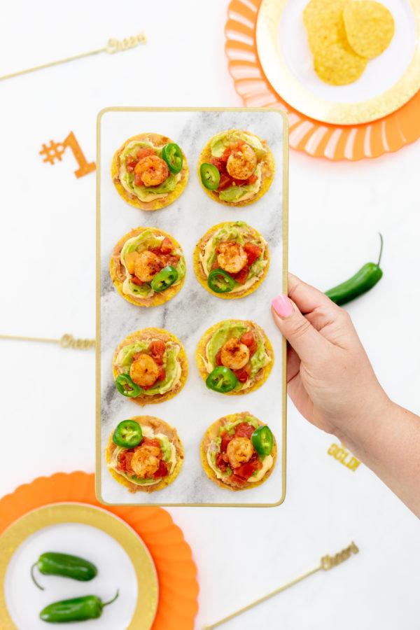 Fiesta Shrimp Nacho Bites