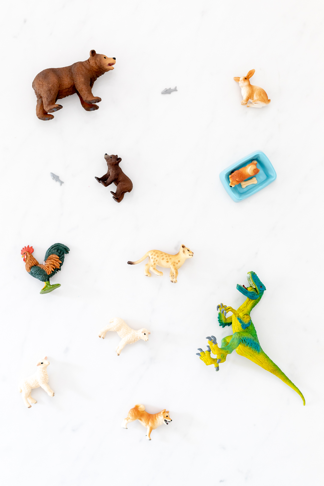 Animal figurines from bears to dinos