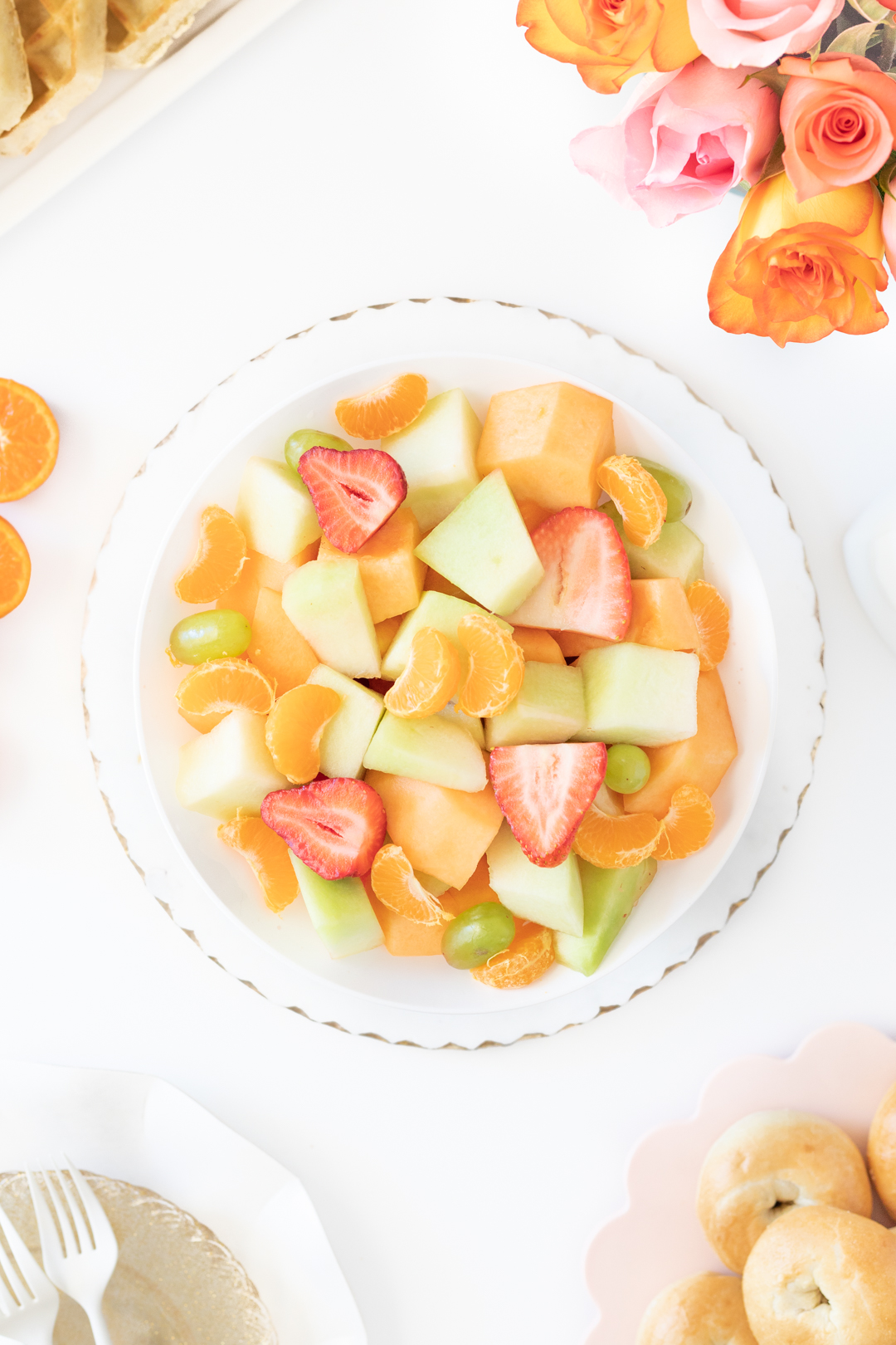 fruit salad with cuties mandarins