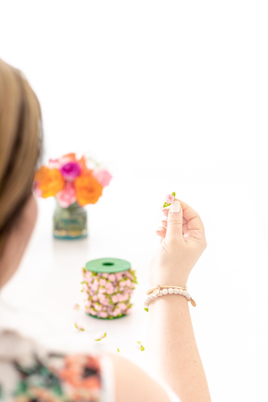 tiny flower for diy hair pins