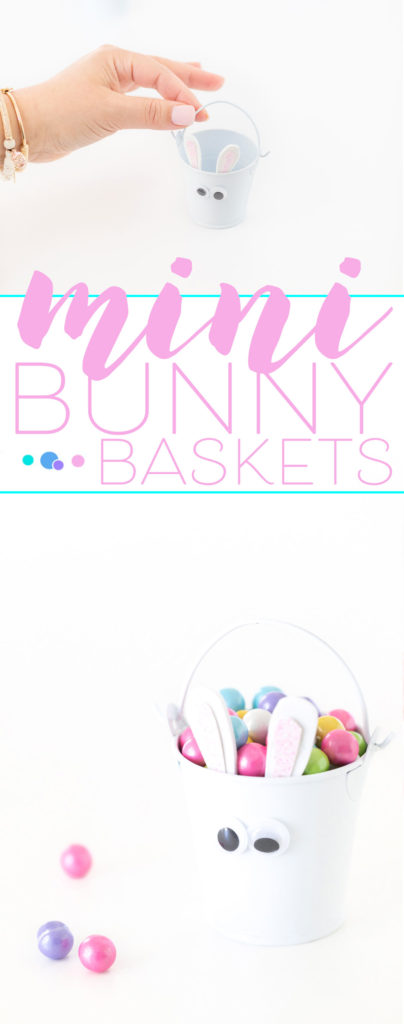 candy filled mini bunny pail