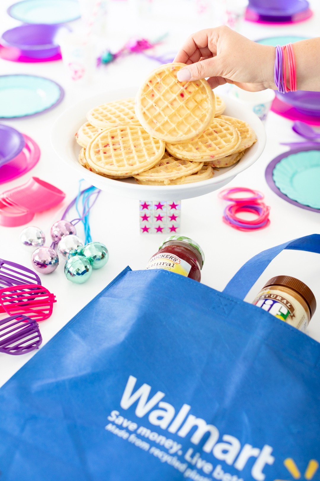 Walmart shopping bag and party supplies