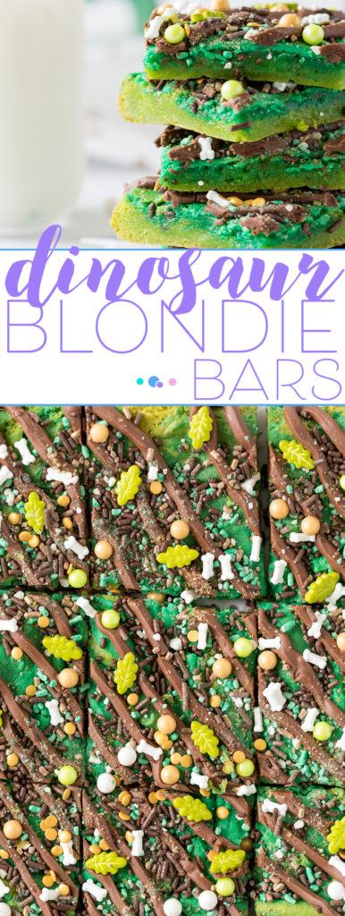 Dino Blondie Bars, perfect for dinosaur parties