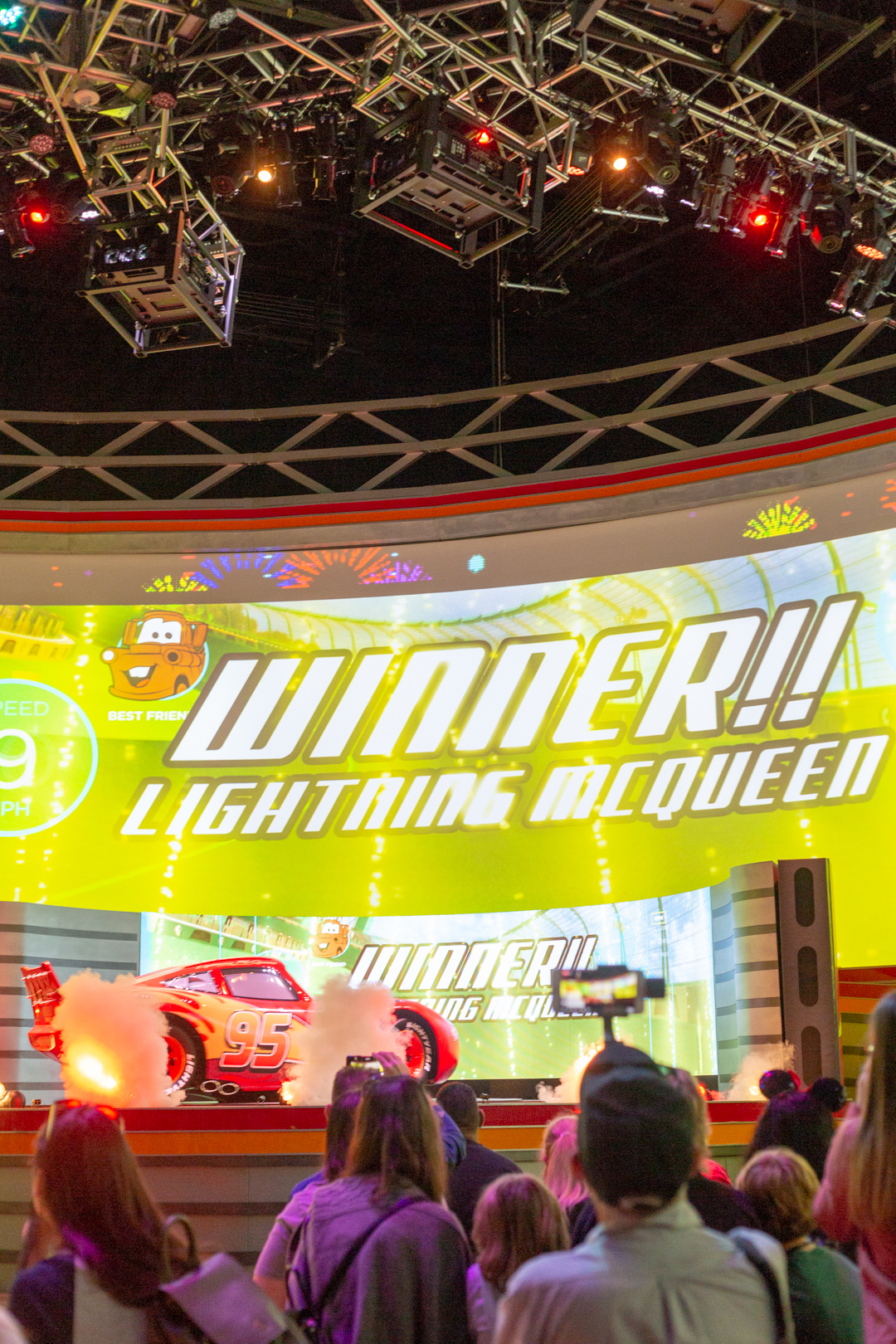 Lighting McQueen show at Hollywood Studios