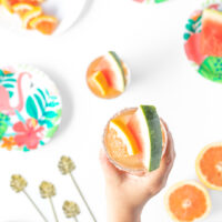 Watermelon & Grapefruit Iced Tea Mocktail