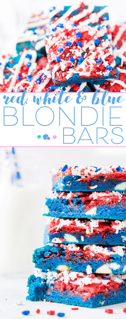 red white and blue dessert bars stacked up