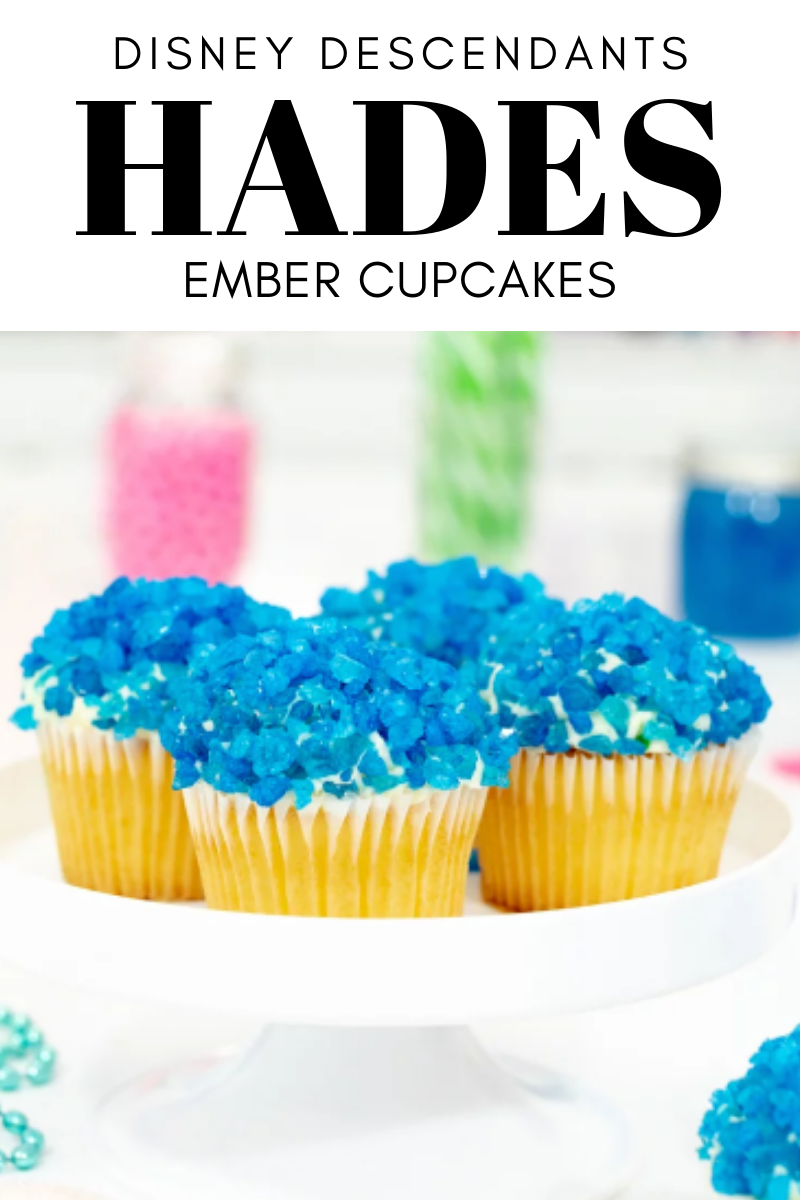 Hades Ember Cupcakes. Disney Descendants 3 Recipe Party Ideas