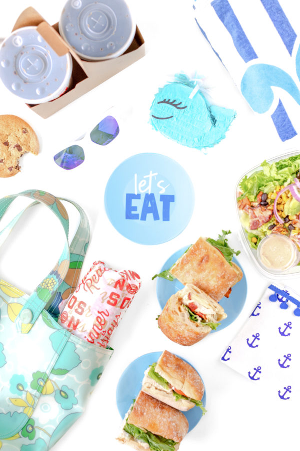 Cute picnic ideas with Let's Eat Plate/
