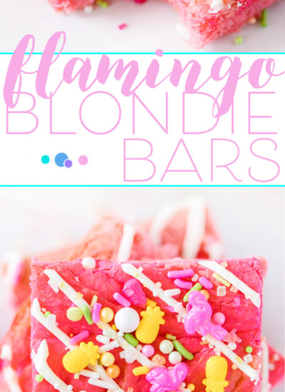 Easy Flamingo Dessert Bars are perfect for summer parties. Perfectly pink dessert topped with the best flamingo sprinkles around.