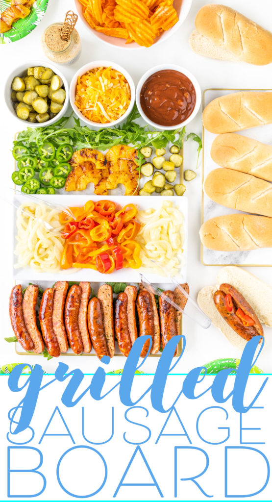 Grilled Sausage Board for Summer Parties