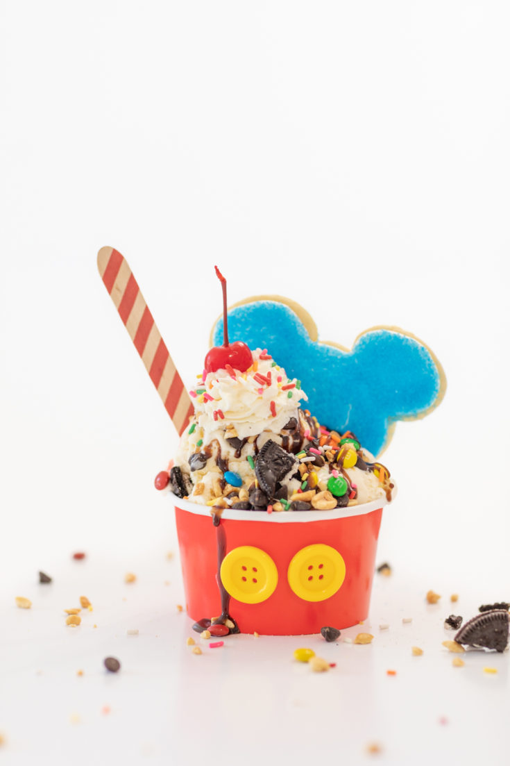 Mickey Ice Cream Party Sundaes