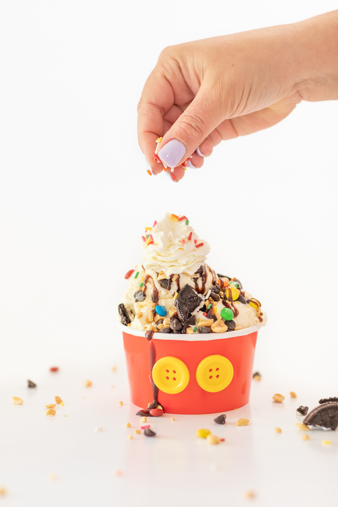 Colorful Sprinkles for Mickey Mouse Sundae