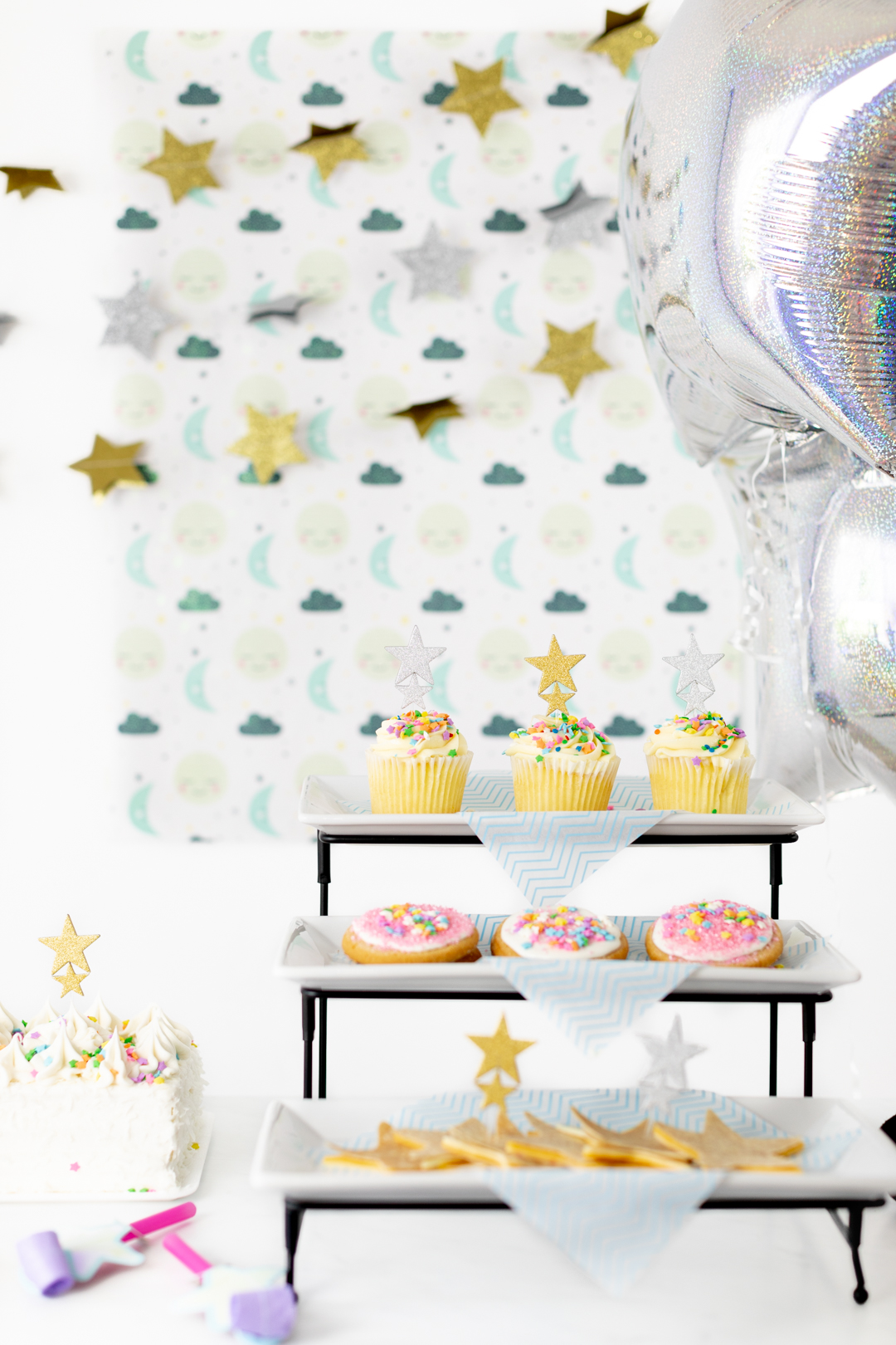 tiered stand with party treats