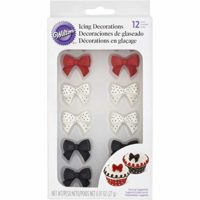 Wilton 710-2217 Icing Decoration, Royal Polka Dot Bows