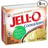 JELL-O Coconut Cream Pudding & Pie Filling Mix (3 oz Boxes, Pack of 6)