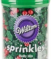 Wilton W5085 Sprinkles 3oz, Holly Mix