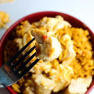 3 Ingredient Slow Cooker Zesty Cheddar Chicken Recipe