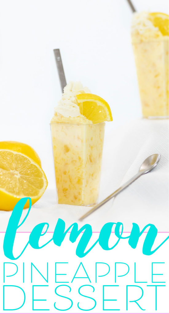 Pineapple Lemon Dessert with only 3 ingredients.