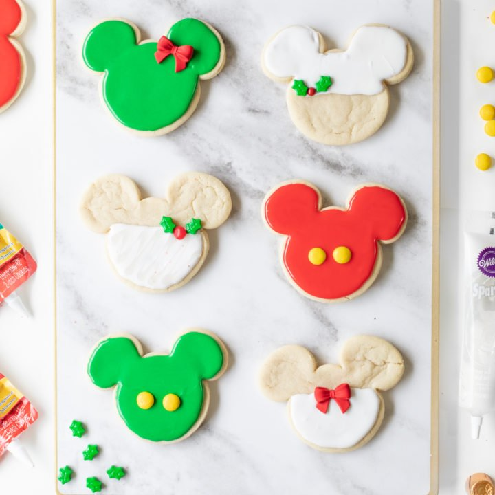 Mickey Christmas Cookies