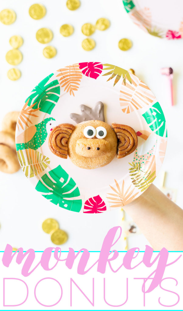 Adorable Monkey Donuts inspired by the new Dora live-action movie.