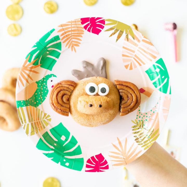 Cute Monkey Donut