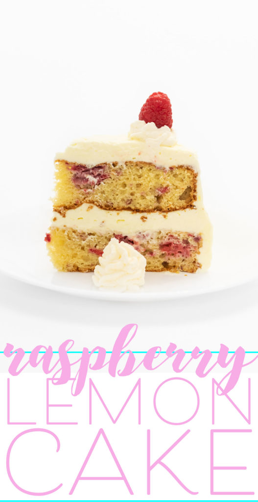Easy Lemon Raspberry Dream Cake. The whipped frosting is CRAZY delish.