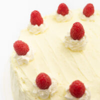 Raspberry Cake with Whipped Lemon Frosting