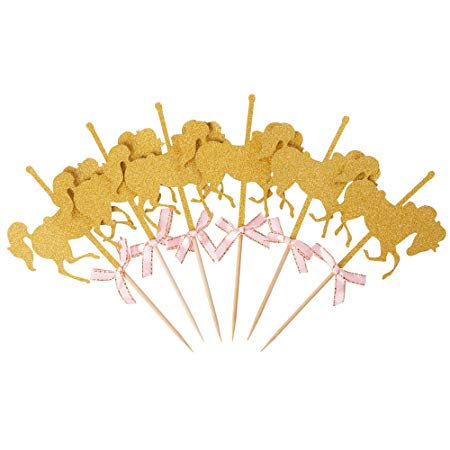 Carousel Horse Cupcake Toppers