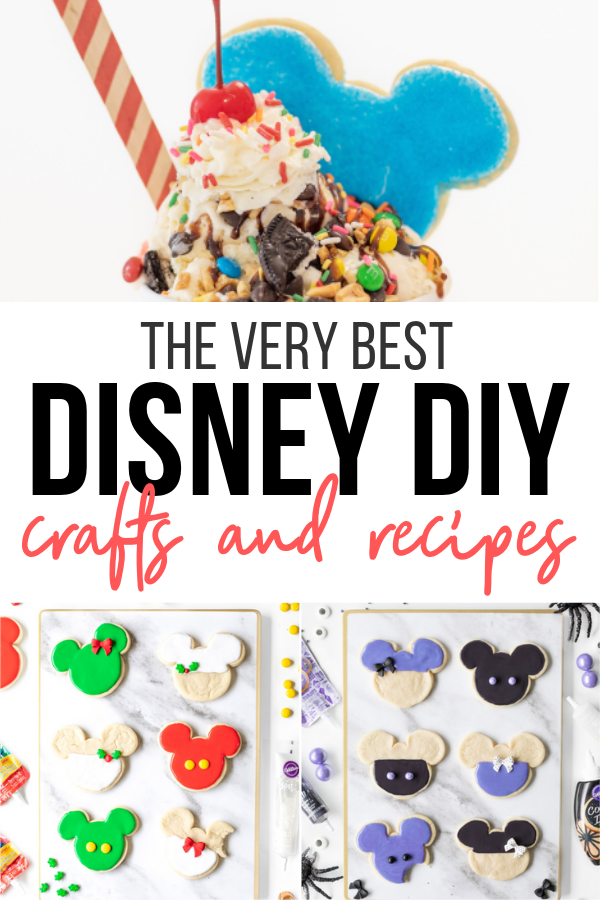 Disney DIY recipes and crafts to love. ALL easy and anyone can do them!