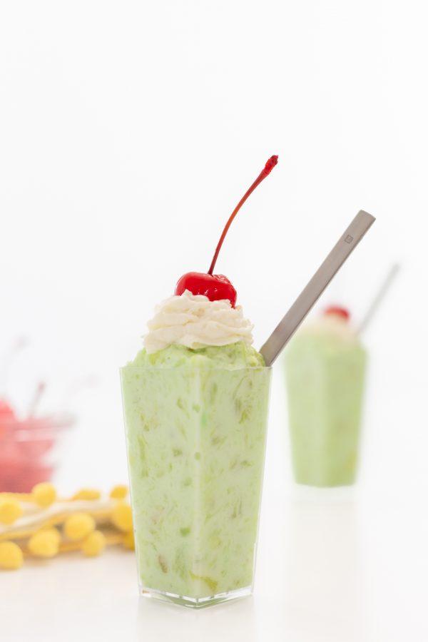 pistachio mini parfaits with mini spoons
