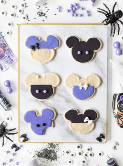 Mickey Purple Halloween Cookies