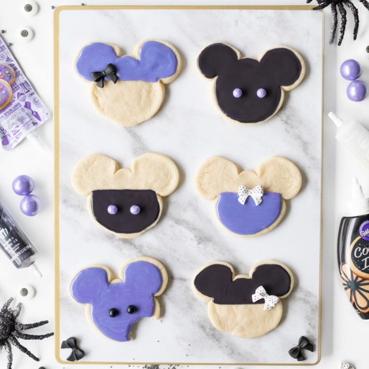 Mickey Purple Halloween Cookies