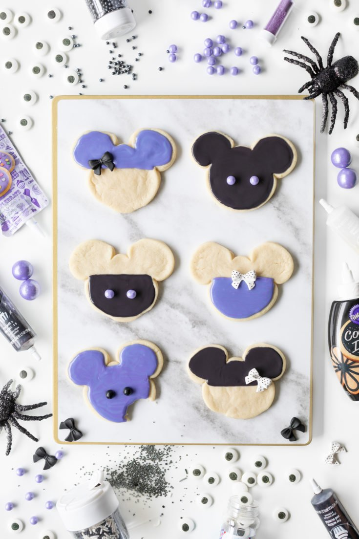 Purple and Black Mickey Halloween Cookies