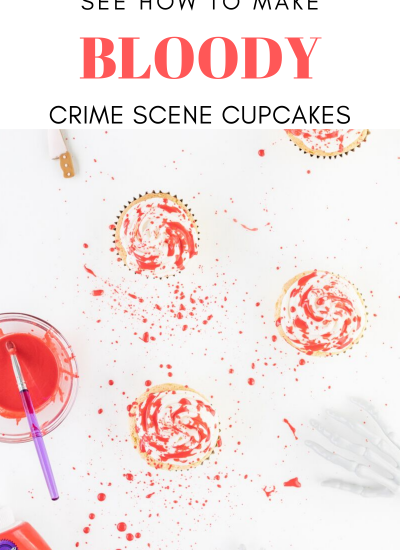 blood splatter cupcakes