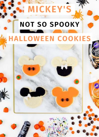 Not so spooky mickey cookies