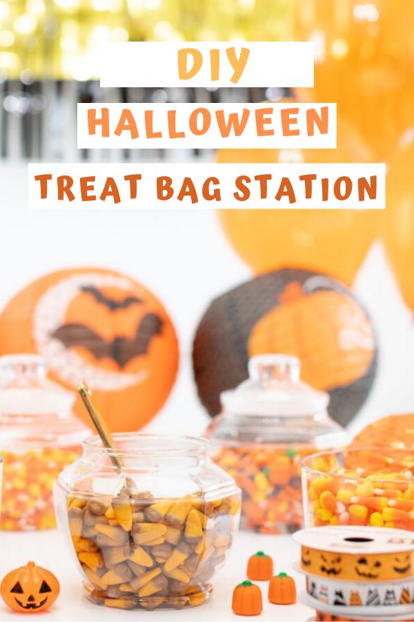 Halloween Treat Bag DIY Station that Kids Love.