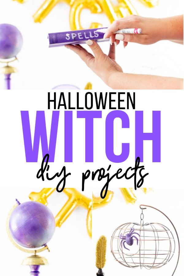 Purple and Gold Halloween Decoration DIY projects you will love.