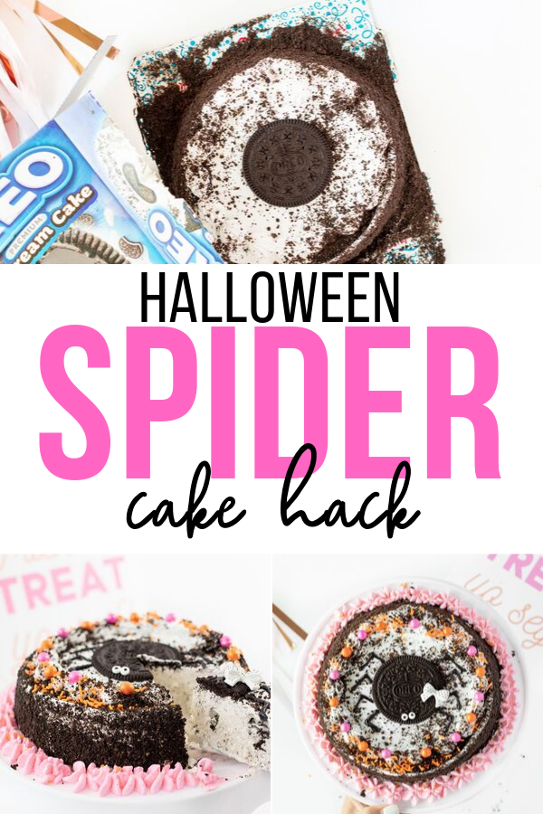 Halloween Spider Cake Hack that everyone loves.