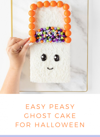 Easy Ghost Cake Idea. It only took me 20 minutes to make this from start to finish.