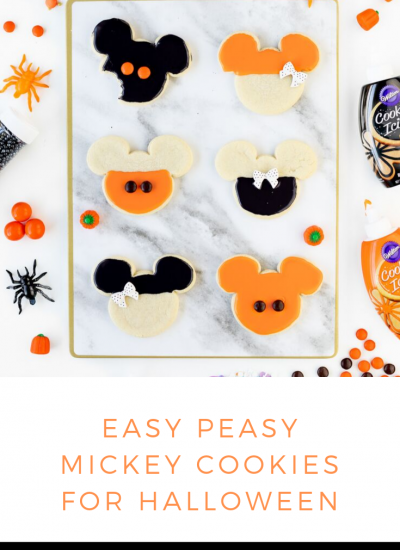 Easy Mickey Halloween Cookies