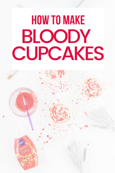 Make bloody cupcakes the easy way.