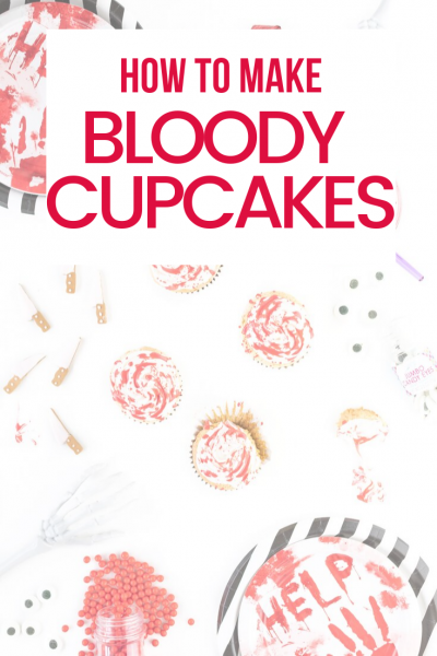 Easy Bloody Cupcakes for Halloween
