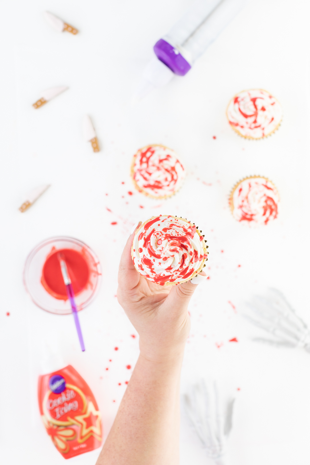 blood splattered cupcake