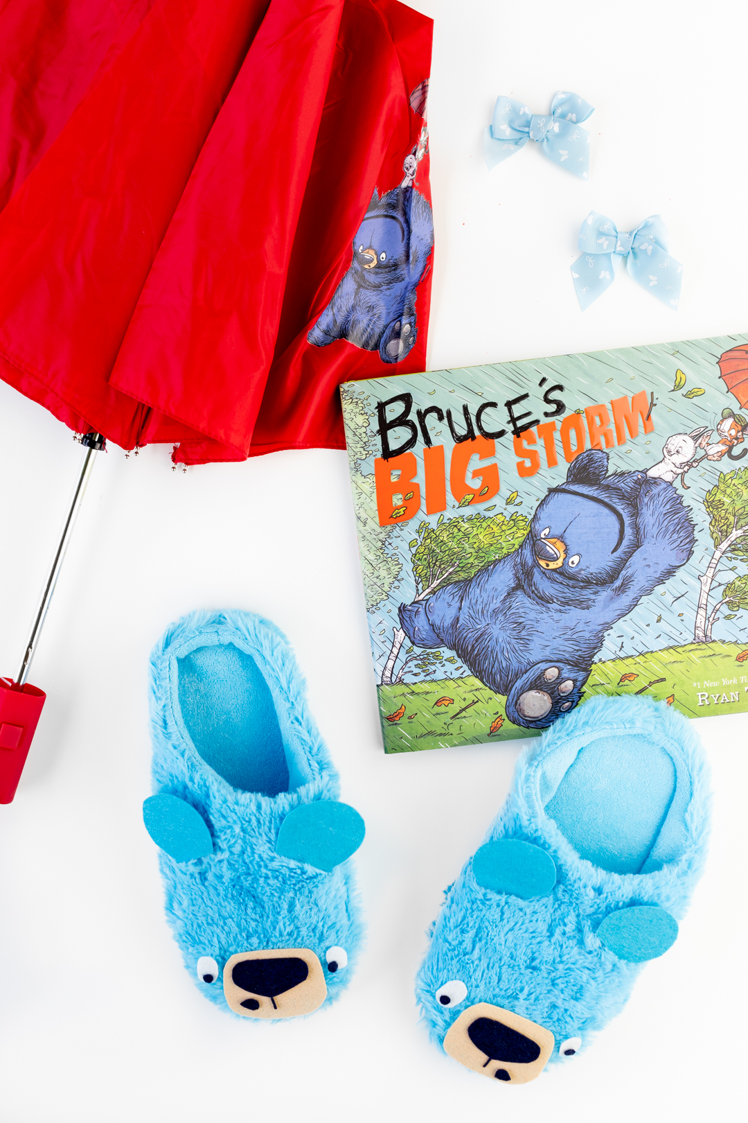 Bruce's Big Storm Book with Cute Bruce Umbrella and Bruce Slippers!