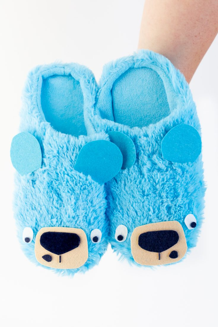 DIY Bear Slippers Inspired by Bruce