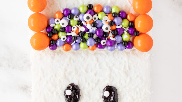 Halloween Trick or Treat Bag Ghost Cake